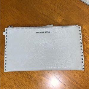 Michael Kors studded wristlet wallet - grey